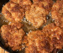 fried boneless chicken thighs
