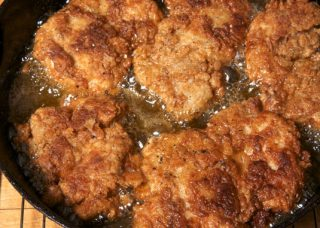 fried boneless chicken thighs