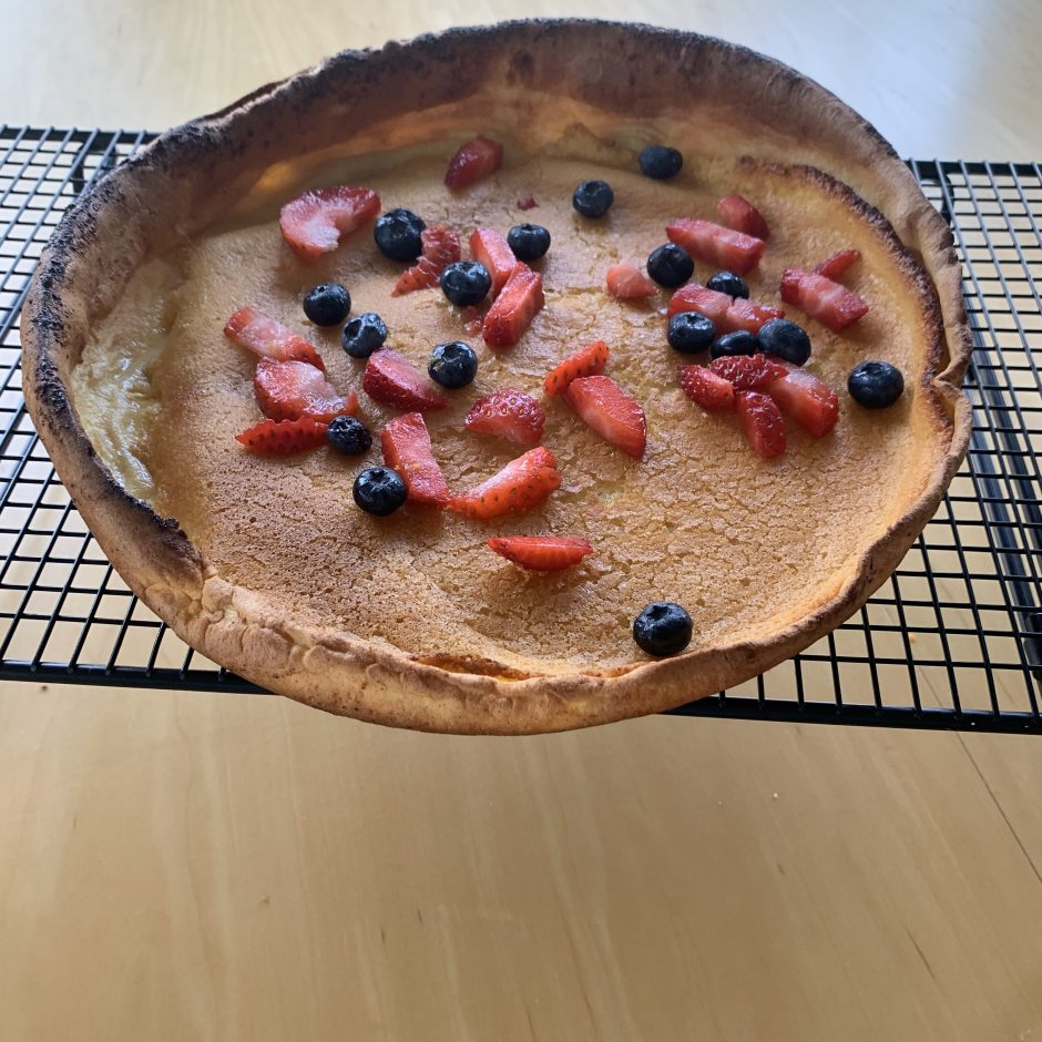 Dutch Baby on cooling Rack