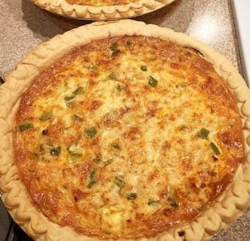 Cajun Crab & Bacon Quiche